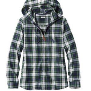 NWT llbean scotch plaid hoodie